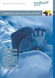 Arbeitsschutz: Alles für den Winter 2011/2012 - sudhoff technik GmbH