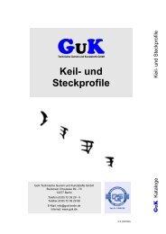 Keil- und Steckprofile - GuK Technische Gummi und Kunststoffe GmbH