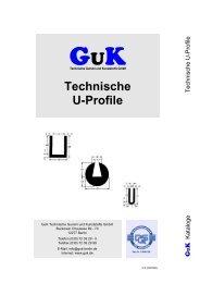 Technische U-Profile - GuK Technische Gummi und Kunststoffe GmbH