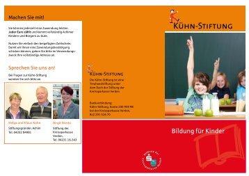 Flyer RZ.indd - Stiftung Kreissparkasse Verden