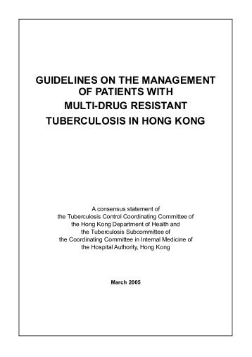 guidelines on the management of patients with multi-drug resistant ...