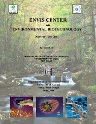 ENVIS CENTER - ENVIS Centre on Environmental Biotechnology ...