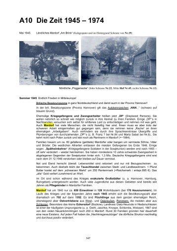A10 Die Zeit 1945 – 1974 - +++ In Mardorf