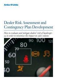 Dealer Risk Assessment and Contingency Plan ... - Arthur D. Little