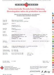 Schweizerische Brandschutz-Zulassung - Bernard Kaminbau AG