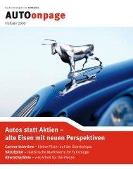 Autos statt Aktien - AUFBRUCH Agentur für neue Kommunikation