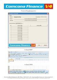 Comcona Finance V4 - Comcona AG