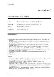 Verhandlungsprotokoll - Kanton Schwyz