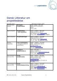 Dansk Litteratur om projektledelse