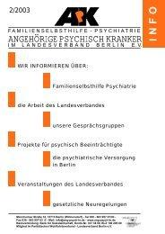 ApK Info 2/2003 - Angehörige psychisch Kranker