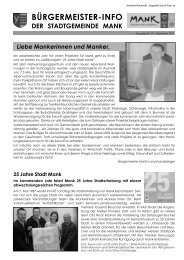Bürgermeister-Info Dezember 2011 (7,51 MB) - Stadtgemeinde Mank