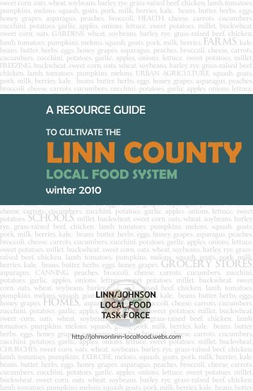 linn county - Leopold Center for Sustainable Agriculture - Iowa State ...