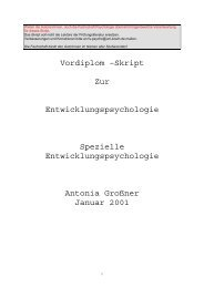 Vordiplom –Skript Zur Entwicklungspsychologie Spezielle ...