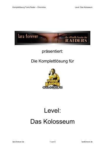 Level: Das Kolosseum - Lara Forever