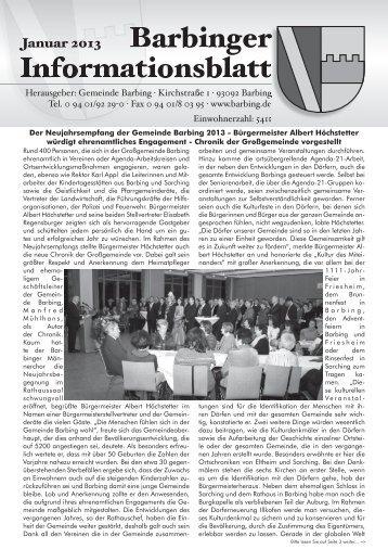 2013 01 Informationsblatt - Landkreis Regensburg