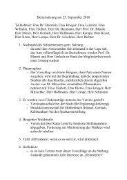Protokoll der Beirats- und Vorstandssitzung September 2010