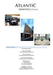 BANKETTMAPPE Ihre Ansprechpartner: Frau ... - ATLANTIC Hotels