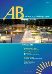 Archiv des Badewesens - Deutschen Gesellschaft für das Badewesen
