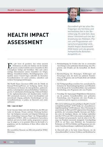 Artikel als pdf - Martin Sprenger, public health