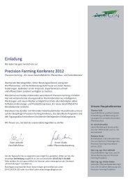 Einladung Precision Farming Konferenz 2012 - Agri Con GmbH