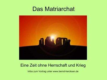 Das Matriarchat - Bernd Senf