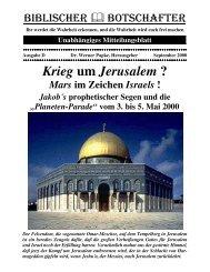 Krieg um Jerusalem ? - Dr-Papke.de