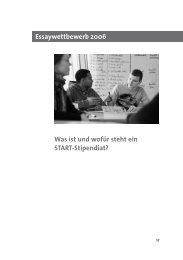 Essaybroschüre Texte 2006 - START-Stiftung