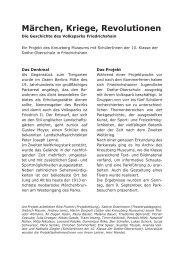 Märchen, Kriege, Revolutionen - Berliner Regionalmuseen