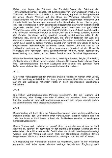 Briand-Kellogg-Pakt aus Wikipedia, der freien ... - Freistaat Danzig