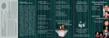 Flyer 1. Halbjahr 2013 - KleinkunstBühne Meiderich