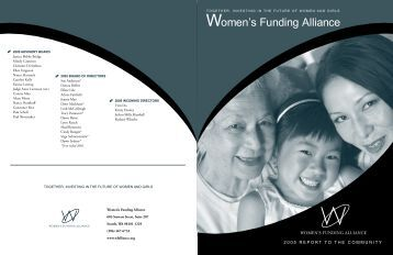 WFA 2006 Annual Report.indd - Women's Funding Alliance