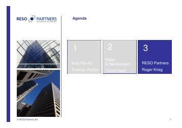 Phasengerechte FM Planerleistung - RESO Partners AG