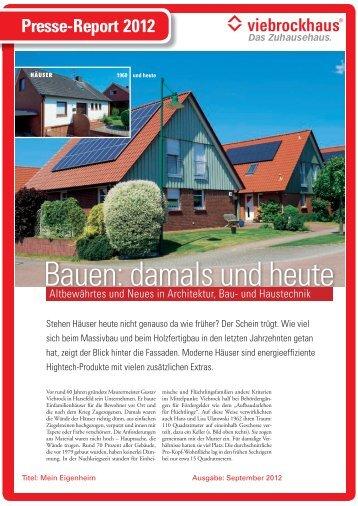 Bauen: damals und heute - Viebrockhaus