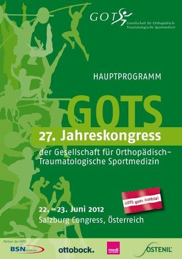 Programm - GOTS-Jahreskongresse