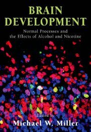 Brain Development: Normal Processes and the Effects of Alcohol ...