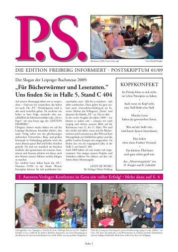 Uns finden Sie in Halle 5, Stand C 404 - Edition Freiberg