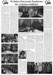 50 Jahre Ortsverein Norderney der AWO - Chronik der Insel ...
