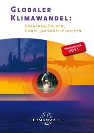 Globaler Klimawandel: Ursachen, Folgen ... - Germanwatch