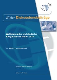 Weltkonjunktur und deutsche Konjunktur im Winter 2010