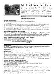 Ausgabe 1 Mittwoch, 09.01.2008 - Weichering