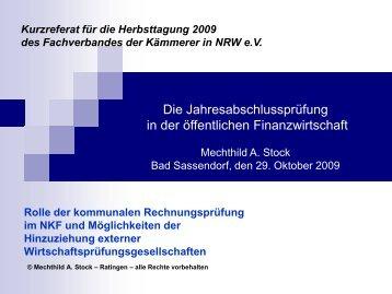 Neues Kommunales Finanzmanagement - Fachverband der ...