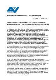 Presseinformation der Auva-Landesstelle Wien Klettergarten f