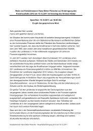 Haushaltsrede Kreiskämmerer Hans-Dieter Fleischer - Neue ...