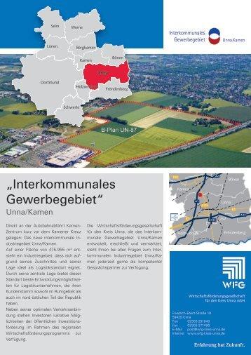 Daten und Fakten zum interkommunalen Gewerbegebiet Unna/Kamen