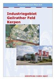 Industriegebiet Geilrather Feld - Wirtschaftsförderung Rhein-Erft GmbH