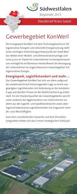 Gewerbegebiet KonWerl - Wirtschaftsförderung Kreis Soest
