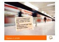 spezifischer Finanzbedarf im VVS - Verband Region Stuttgart