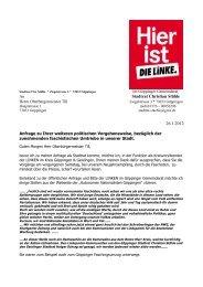 Der öffentliche Brief an OB Till befindet sich