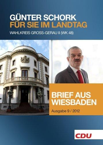 aus dem landtag - Günter Schork