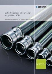 Geberit Mapress, tube en acier inoxydable 1.4521